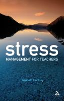 Cover image for Stress management for teachers