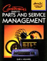 Cover image for Counterman's guide to parts and service management