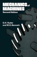 Cover image for Mechanics of machines