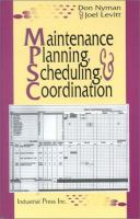 Cover image for Maintenance planning, scheduling, and coordination