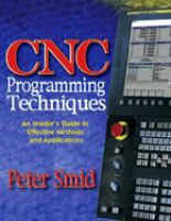 Cover image for CNC programming techniques : an insider's guide to effective methods and applications