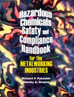 Cover image for Hazardous chemicals safety and compliance handbook for the metalworking industries