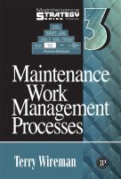 Cover image for Maintenance work management processes