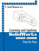 Cover image for Learning and applying SolidWorks 2007-2008 step-by-step