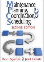 Cover image for Maintenance planning, coordination, and scheduling