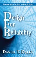 Cover image for Design for reliability