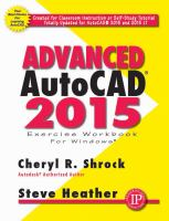 Cover image for Advanced AutoCAD 2015 : exercise Workbook