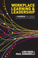 Cover image for Workplace learning & leadership : a handbook for library and nonprofit trainers