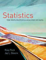 Cover image for Statistics : exploration and analysis of data