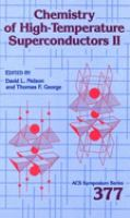 Cover image for Chemistry of high-temperature superconductors