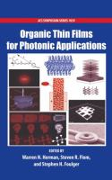 Cover image for Organic thin films for photonic applications