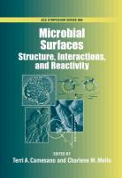Cover image for Microbial surfaces : structure, interactions, and reactivity