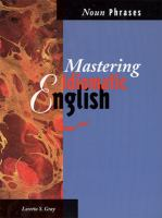 Cover image for Mastering idiomatic English