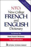 Cover image for NTC's new college French and English dictionary