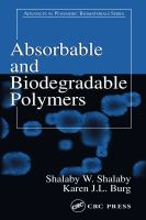 Cover image for Absorbable and Biodegradable Polymers