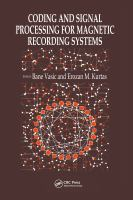 Cover image for Coding and signal processing for magnetic recording systems