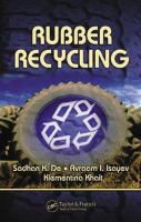 Cover image for Rubber recycling