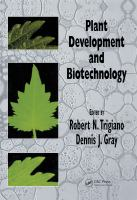Cover image for Plant development and biotechnology