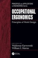 Cover image for Occupational ergonomics : principles of work design