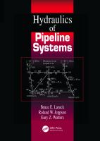 Cover image for Hydraulics of pipeline systems
