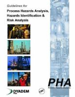 Cover image for Guidelines for process hazards analysis, hazards identification and risk analysis