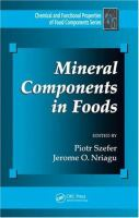 Cover image for Mineral components in foods