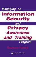 Cover image for Managing an information security and privacy awareness and training program