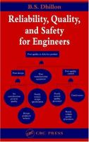Cover image for Reliability, quality, and safety for engineers