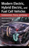 Cover image for Modern electric, hybrid electric, and fuel cell vehicles : fundamentals, theory, and design