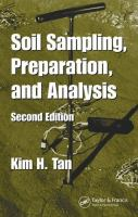 Cover image for Soil sampling, preparation, and analysis