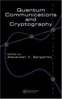 Cover image for Quantum communications and cryptography