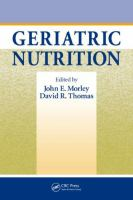 Cover image for Geriatric nutrition