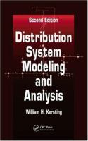 Cover image for Distribution system modeling and analysis