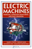 Cover image for Electric machines : modeling, condition monitoring, and fault diagnosis