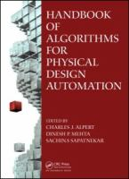 Cover image for Handbook of algorithms for physical design automation