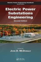 Cover image for Electric power substations engineering