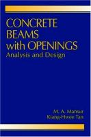 Cover image for Concrete beams with openings : analysis and design
