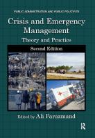 Cover image for Crisis and emergency management : theory and practice