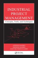 Cover image for Industrial project management : concepts, tools, and techniques