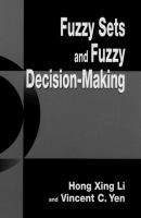 Cover image for Fuzzy sets and fuzzy decision-making