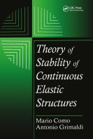 Cover image for Theory of stability of continuous elastic structures