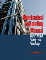 Cover image for Mechanical estimating manual : sheet metal, piping and plumbing