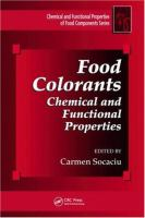 Cover image for Food colorants : chemical and functional properties