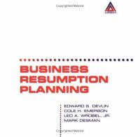 Cover image for Business resumption planning