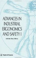 Cover image for Advances in industrial ergonomics and safety