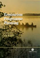 Cover image for Ecotourism programme planning