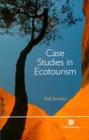 Cover image for Case studies in ecotourism