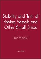 Cover image for Stability and trim of fishing vessels and other small ships
