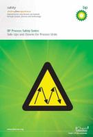 Cover image for Safe ups and downs for process units : a collection of booklets describing hazards and how to manage them