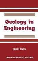 Cover image for Geology in engineering
